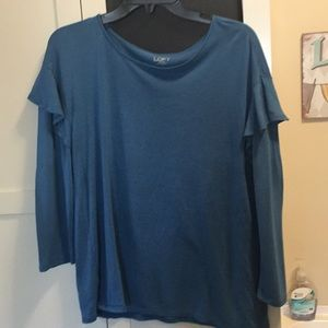 Loft Outlet l s ruffle tee